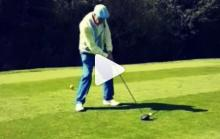 93-year-old golfer rips a driver off tee