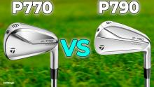 NEW TaylorMade P790 2021 vs TaylorMade P770 irons!