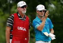 zach johnson's caddie tells him to put some panties on it