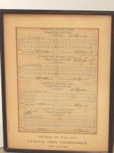bobby jones 1929 us open scorecards could fetch $45,000