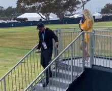Phil Mickelson brings chair over for Jon Rahm's wife and baby at US Open