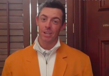 Rory McIlroy marks 25 years of Happy Gilmore with Tour Championship gold jacket