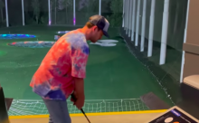 'It looks in sync': Golf fans react as pop star JUSTIN TIMBERLAKE hits the range