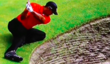 WATCH: How would you play this Tiger Woods bunker shot?