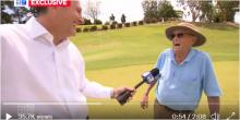 """""""F*** me"""": Golfer, 99, makes STUNNING hole-in-one two months shy of the big 100"""