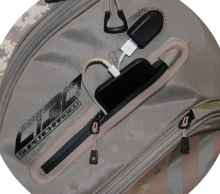 sun mountain supercharged c-130 cart bag allows golfers to charge their phone while they play