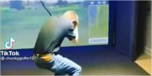 'That simulator provides INSTANT feedback': Golf fans react to this painful shot