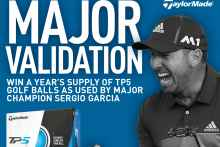 win year's supply of taylormade tp5 balls as played by sergio garcia