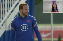 Harry Kane CHIPS IN TWICE IN A ROW during England golf chipping challenge!