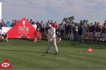 13-year-old beats dustin johnson and tommy fleetwood in beat the pro challenge