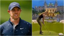 Golf fans react as Rory McIlroy's ex Caroline Wozniacki plays golf in high heels