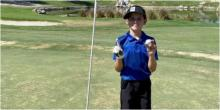 Boy, 11, hits TWO holes in one in the span of seven holes at junior tournament
