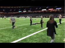 sergio garcia receives awesome pass from his wife angela at nfl game