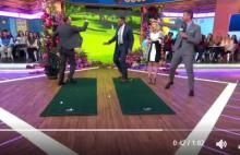 tiger woods wins trophy on good morning america