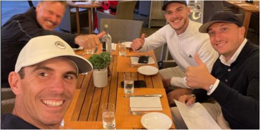 Billy Horschel toasts BMW victory with West Ham STARS Declan Rice and Mark Noble