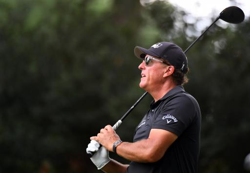 Phil Mickelson hits DRIVER OFF THE PINE on Champions Tour