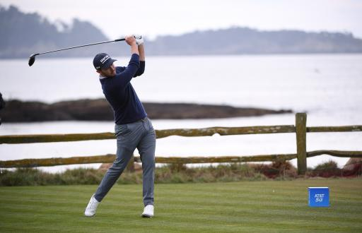 Patrick Cantlay shoots joint course record to take 2-shot lead at Pebble Beach