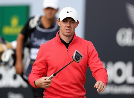 RANDOM MAN walks on tee box to STEAL Rory McIlroy's at Scottish Open