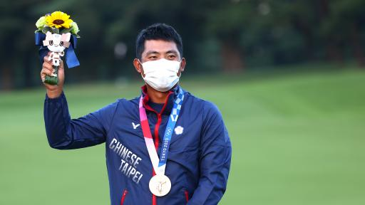 C.T. Pan of Chinese Taipei wins bronze medal after 7-man playoff in Japan