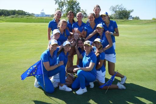 Team Europe win the 2021 PING Junior Solheim Cup match