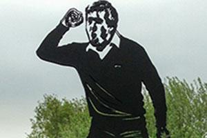 Seve life-size statue built at The Shire London
