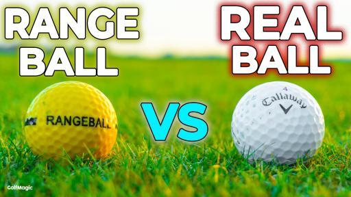 DO RANGE BALLS GO SHORTER?! Range Ball vs Premium Ball Test