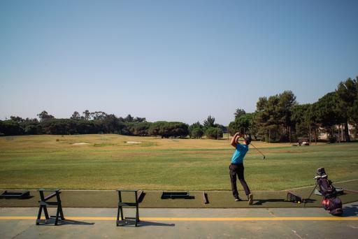 Golfers at home on the new range at Quinta da Marinha