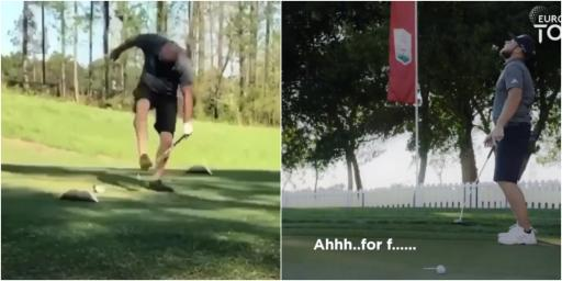 Is this the ANGRIEST golfer you've seen since Tyrell Hatton's parody?