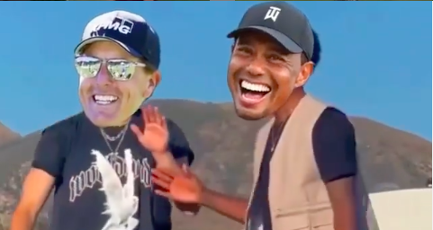 Golf fans react as Tiger Woods and Phil Mickelson GET CROPPED into DANCE VIDEO