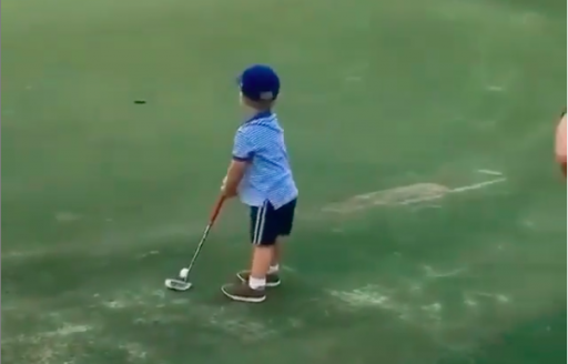 Little Golfer makes putting look EASY to the delight of golf fans!