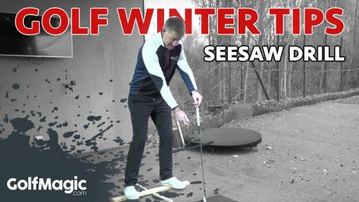 golf winter tips seesaw drill to improve weight transfer