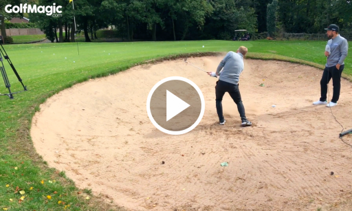 WATCH: Can United legend Scholes hole yet ANOTHER bunker shot? OMG...