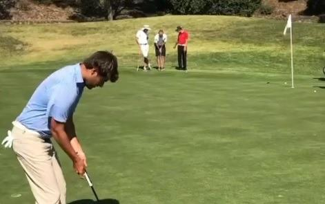 WATCH: Is this one of the most INCREDIBLE putts you have ever seen drop?!