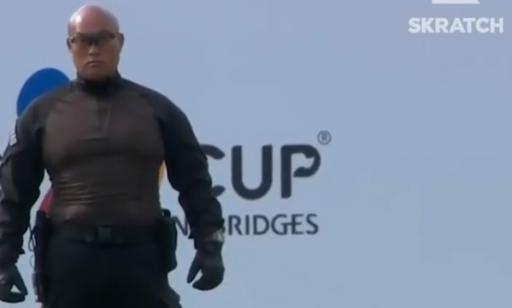 WATCH: The security guard at The CJ Cup is STACKED!