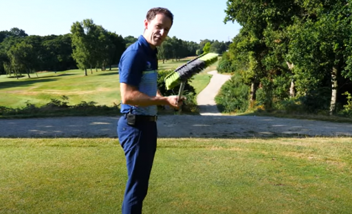 How to hit your driver DEAD STRAIGHT just by using a broom!