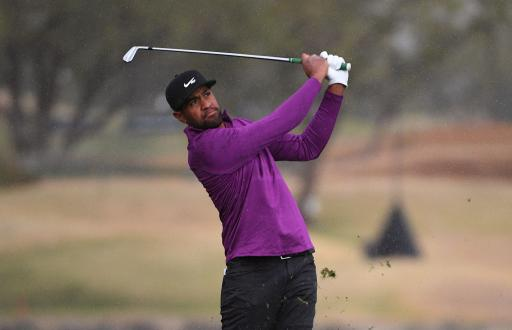 Tony Finau in three-way tie for lead with 18 to play at The American Express