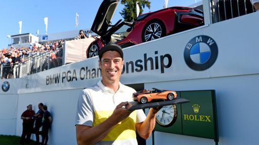WATCH: Ross Fisher makes albatross at BMW PGA, wins car worth £132,000
