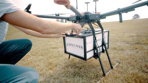 WATCH: new company delivers beers and burgers to golfers via drone