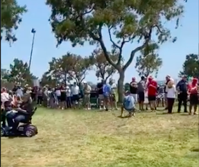 Golf fans react as spectators WAIT FOR HOURS to get a drink at US Open!