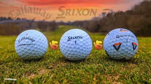 TAYLORMADE vs CALLAWAY vs SRIXON   Best Golf Ball 2021