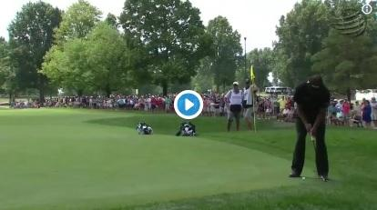 Phil Mickelson shows off dance moves on the course at WGC Bridgestone!