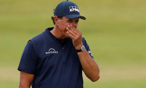 Phil Mickelson is usiing an ARMLOCK putter at the WGC-FedEx St Jude Invitational