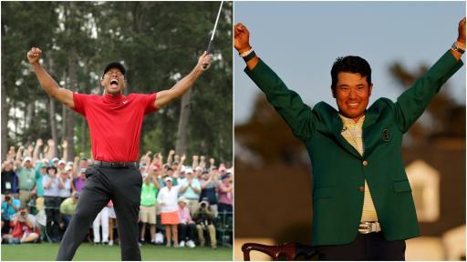 "Tiger Woods salutes Hideki Matsuyama after ""historical"" Masters victory"