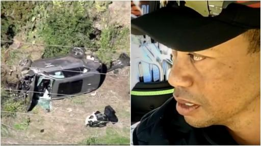NEW Tiger Woods FOOTAGE emerges just hours before his horror car crash