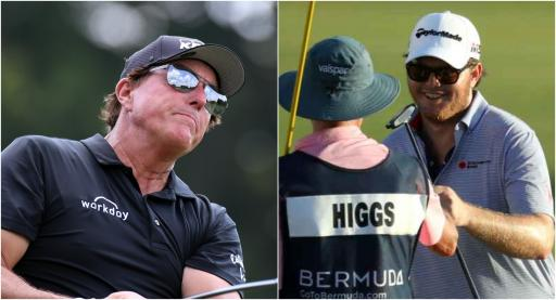 Phil Mickelson beats Harry Higgs after trading jokes before Northern Trust