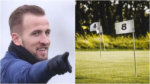 Harry Kane pictured PLAYING GOLF with Spurs teammates at Queenwood