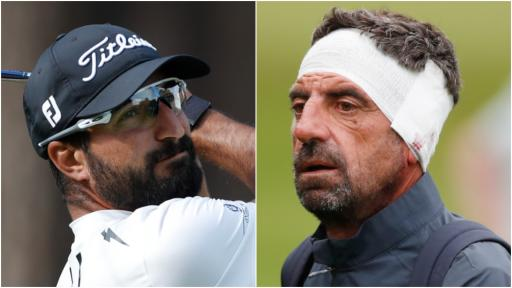 OUCH! Francesco Laporta HITS HIS COACH ON THE HEAD at the BMW PGA!