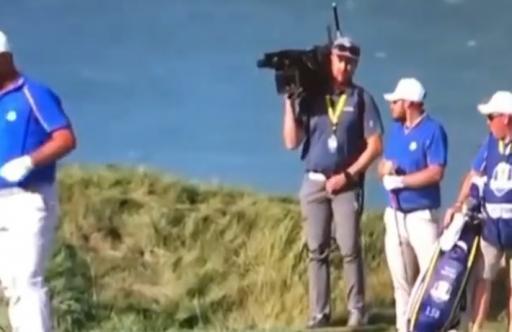 WATCH: Jon Rahm and Tyrrell Hatton react as cameraman stops to ZIP UP HIS FLIES!