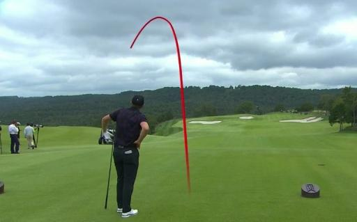 Golf fans relate to Justin Rose after he SNAP-HOOKS drive during exhibition match