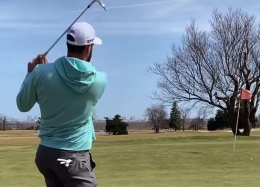 Golfer uses wedge to SCOOP the ball towards the hole, but what's the ruling?